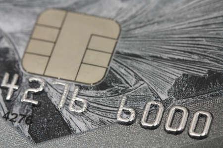 bank credit cards close-up