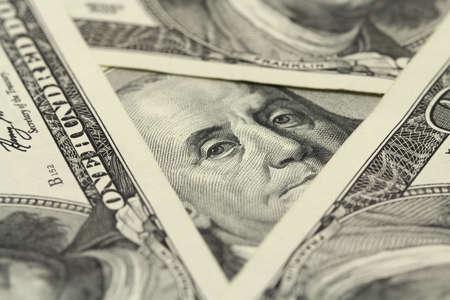 honderd dollar bill achtergrond Stockfoto
