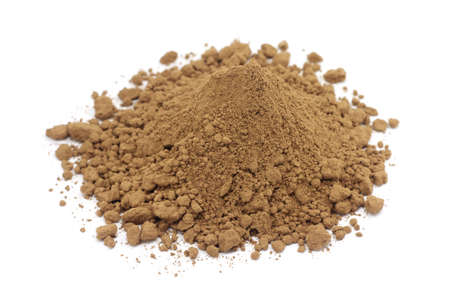bonsde bruine chocolade op een witte achtergrond