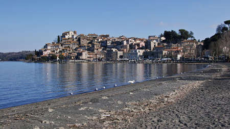 view of the historic centre of Anguillara Sabazia, on the Bracciano lake