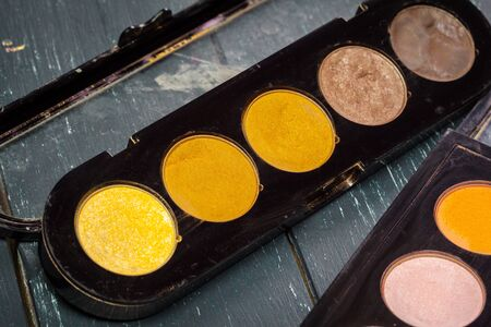multiple: Make-up colorful eyeshadow palette Stock Photo
