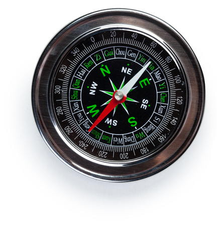 Compass isolated on a white background 版權商用圖片