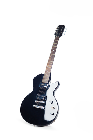electric guitar isolated on white background