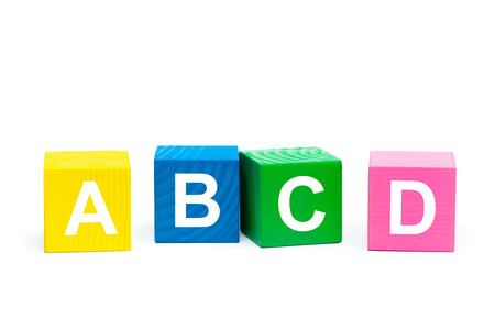 abcd: ABCD Concept with wooden block Stock Photo