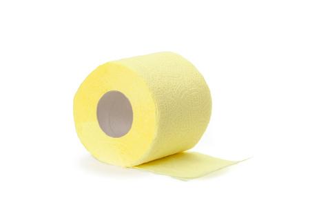 Papier toilette isolé sur fond blanc Banque d'images - 76850742