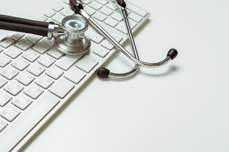 doctor workplace with a stethoscope