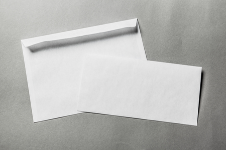 contact info: Blank envelopes Stock Photo