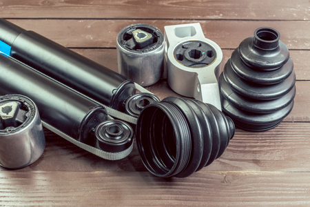 air cleaner: Varias piezas de automóvil Foto de archivo