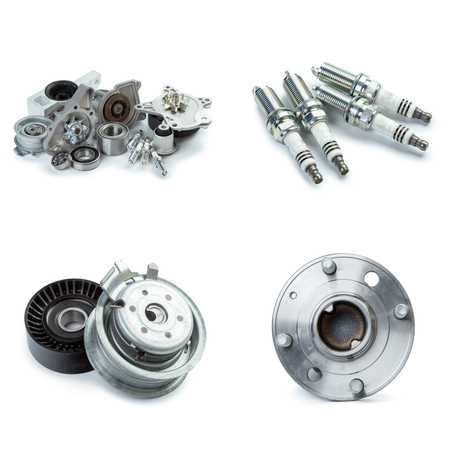 Various car parts necessary for vehicle service Stok Fotoğraf - 76702462