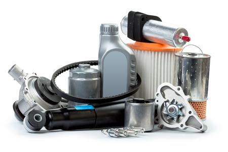 Verschiedene Autoteile notwendige für Auto-Service Standard-Bild - 76785361