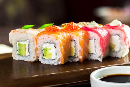 japanese sake: Arco iris Maki Sushi