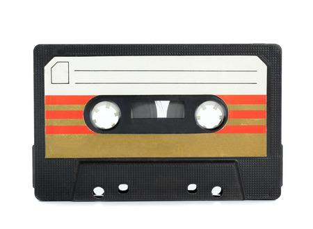 Cassette vintage cassette isolé fond blanc