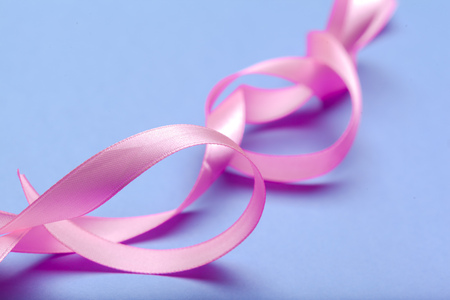 ribbon HIV, AIDS on blue background Stock Photo