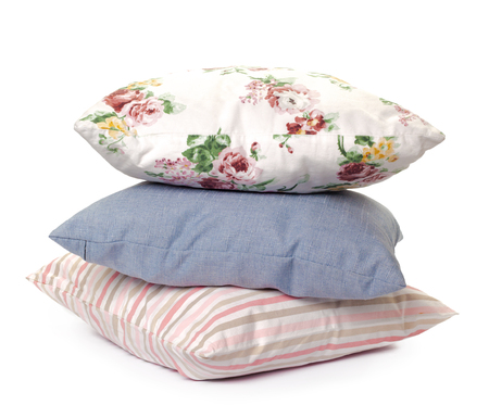 bed spreads: pillows on white background