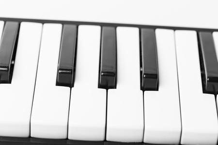 Close-up of Piano Keyboard Stock Photo