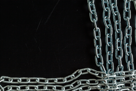 Strong chain black background