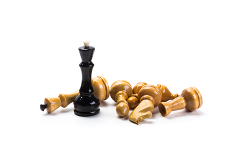 Chess game or chess pieces with white background Stock Photo