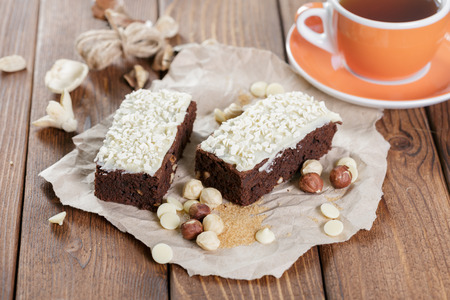 epicure: cake on old wooden background