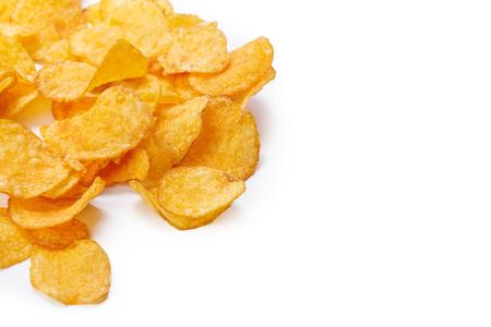 Potato chips isolated on white background Stock Photo