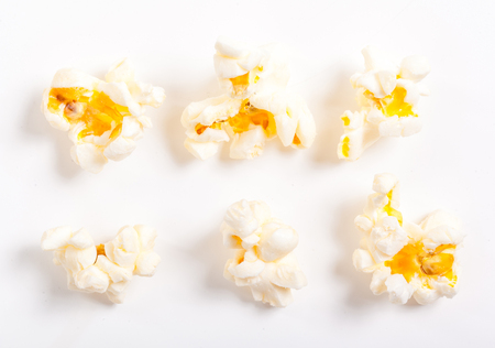 Pop corn collection isolated on white