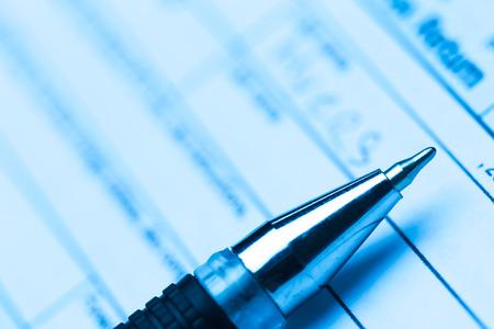 US belasting formulier met pen