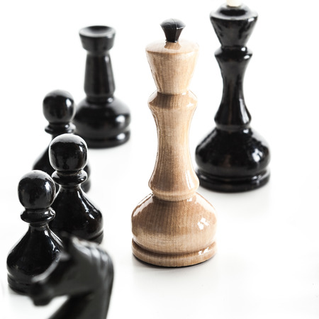 chess board: Chess figure isolated on the white background Stock Photo