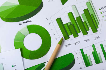Business Charts Green Stock Photo