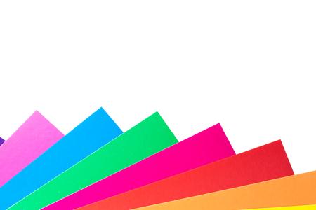 pegamento: Sheets of colored papers Foto de archivo