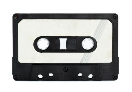 cassette vintage isolé fond blanc