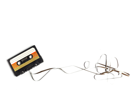 vintage cassette tape isolated white background Stock Photo