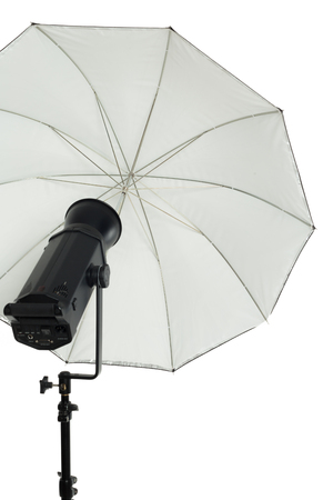 Studio lighting isolated on white Banco de Imagens