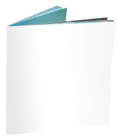 Blank open magazine isoalated on white