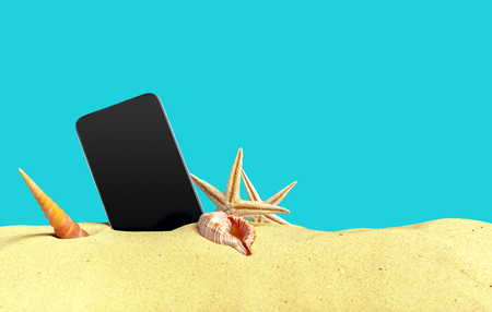 Phone on the sand