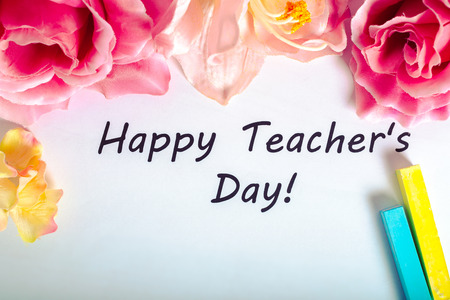 Teacher's day holiday. copy space Stock Photo - 77351279