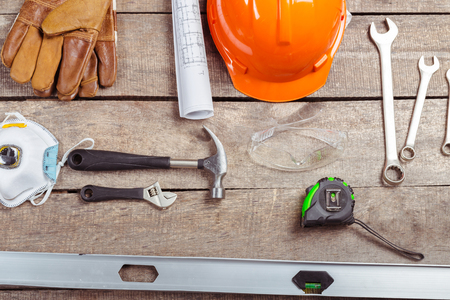 wirecutters: big set of construction tools Stock Photo