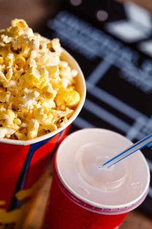 res: Popcorn bowl and drink