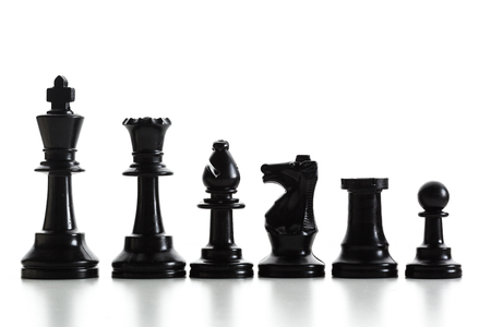 piecies: Chess figure isolated on the white background Stock Photo