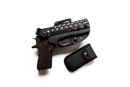 gun on a white background
