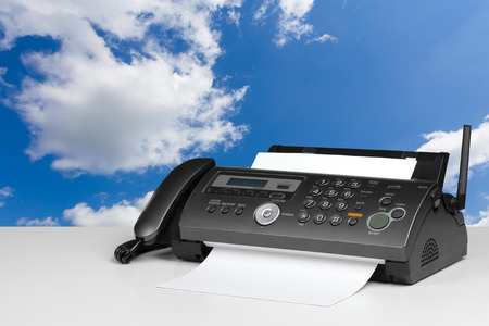 Fax machine in the office Stock Photo