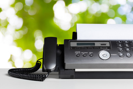 Fax machine, communication 版權商用圖片 - 77845738