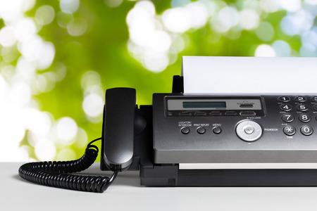 Faxapparaat, communicatie Stockfoto