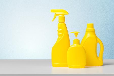 Wasmiddel op wit bureau