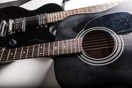 Electric guitar close-up