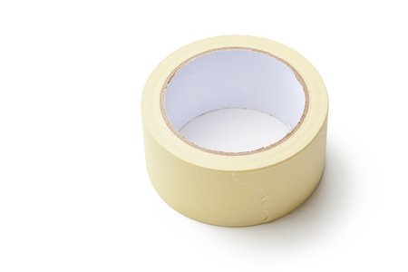 tear duct: adhesive tape  on white background Stock Photo