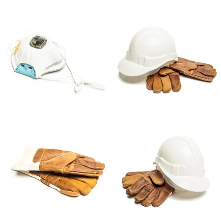 architect: Standard construction safety equipment Stock Photo