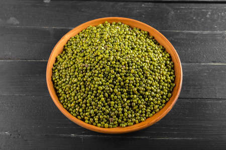 green bean: Mung beans on the table