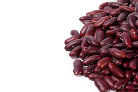 Red bean isolated on white background