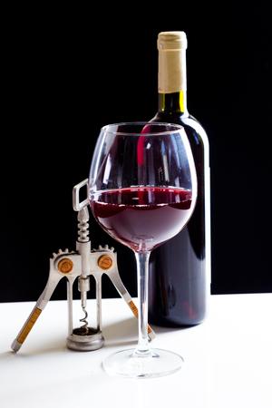 Elegant red wine glass Stock Photo