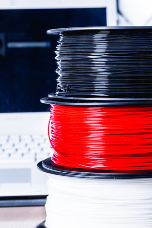pva: Filament for 3D Printer crystal Stock Photo