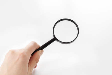 Magnifying glass isolated on white Imagens
